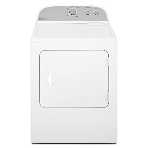Large Capacity Clothes Dryer Shop Whirlpool 7 Cu Ft Electric Dryer White At Lowes Com