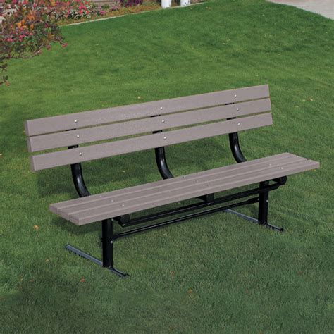 resin park bench traditional recycled plastic park bench