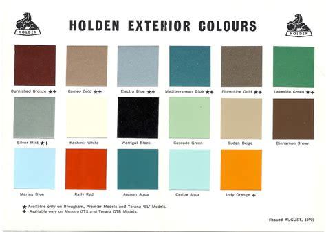 1968 73 holden and torana paint charts paint panel