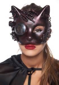 steampunk kitten masquerade mask