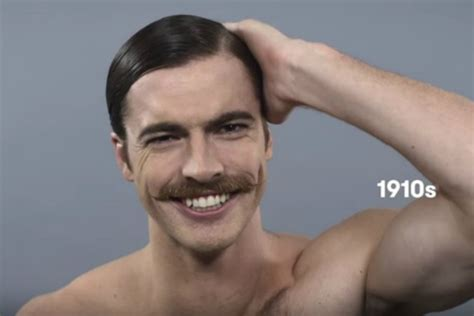 mens hairstyles throughout history video 100 years of beauty celebrating men s hairstyles
