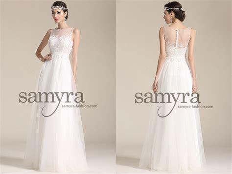 Brautkleider Mode by Brautkleid Mit Netzstofftr 228 Gern Und Spitze Samyra