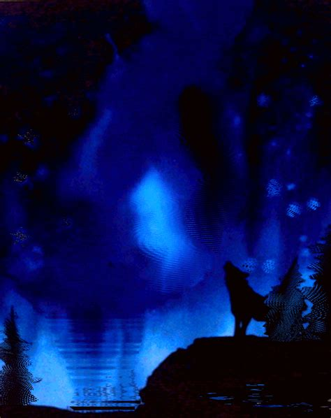 White Tile Bathroom Designs Wolf At Night Gif