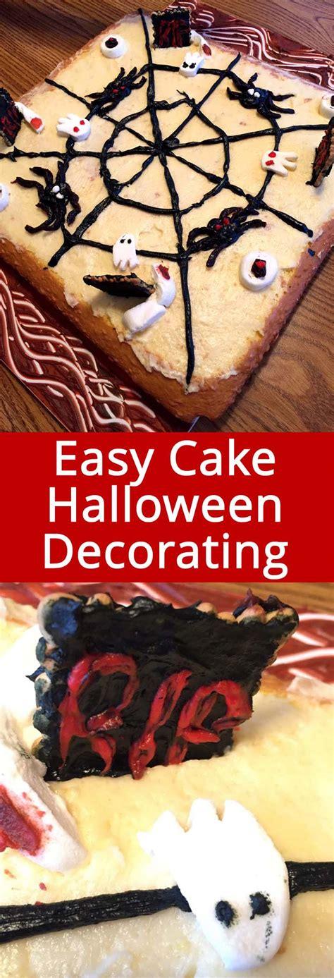 easy halloween cake decorating ideas  spooky cake design melanie cooks