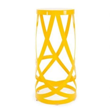 stools ribbons and yellow on