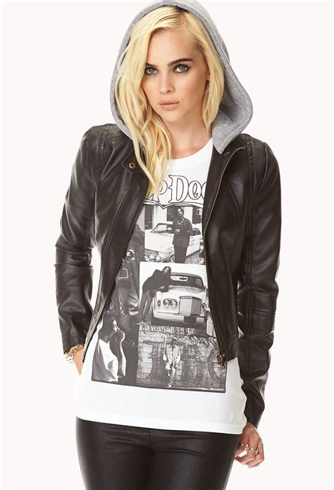 Bomber Crop Grey lyst forever 21 cool cropped bomber jacket in black