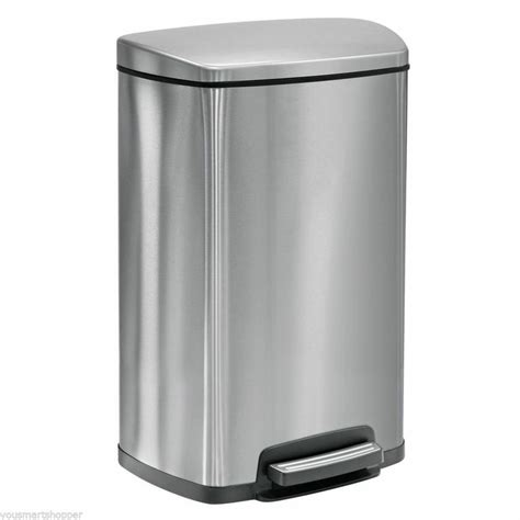 stainless steel 13 gallon kitchen trash can garbage waste