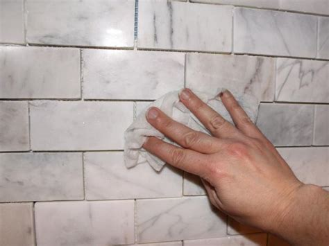 how to clean wall tiles in kitchen how to install a marble tile backsplash hgtv