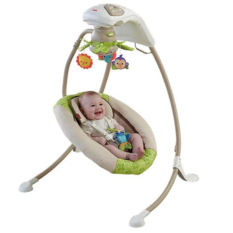 In Infant Swing เปลไกวอ ตโนม ต Fisher Price Rainforest Friends Deluxe