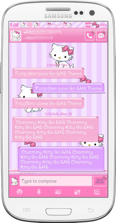 galaxy y themes hello kitty charmmy kitty go sms theme android themes