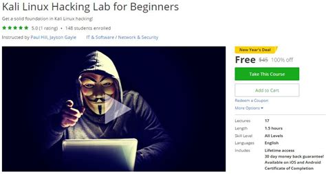 Udemy Complete Linux Bootc For Beginners udemy coupon kali linux hacking lab for beginners free coupon discount