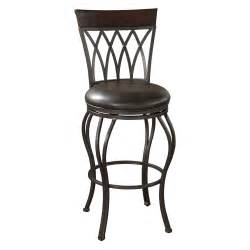 Iron Bar Stools With Backs Ahb 34 In Palermo Swivel Bar Stool Pepper With Tobacco