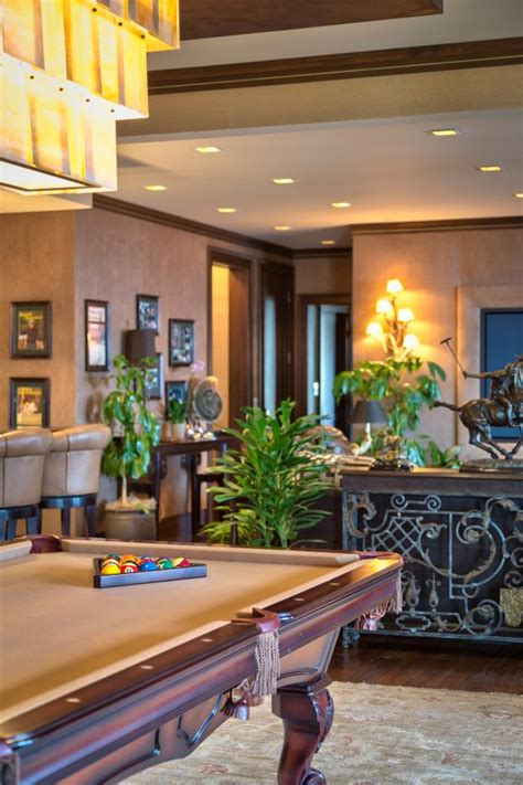 game room  tropical design  pool table hgtv