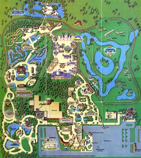 theme park brochures busch gardens the continent