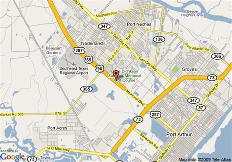 map of port arthur texas map of hton inn suites port arthur port arthur