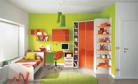 orange and green bedroom colorful children bedroom for creative children s growing