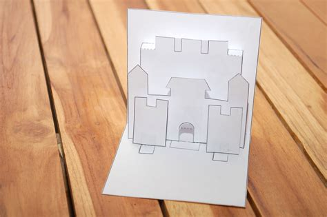 how to make a castle pop up card robert sabuda method - How To Make A Pop Up Castle Card