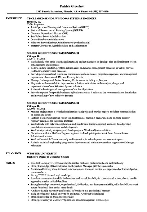 Senior System Engineer Sle Resume by Sccm Architect Resume 28 Images Senior Windows Systems Engineer Resume Sles Velvet Resume