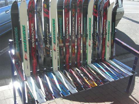 ski bench ski bench photo
