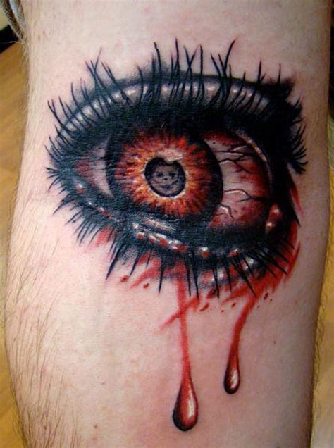 eye for an eye tattoo design 25 graceful scary tattoos slodive