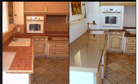 cuisine carrel馥 renovation plan de travail cuisine carrele photos de