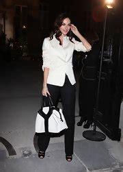 Dita Teeses Yves Laurent Plaid Downtown Tote by De Vasconcelos Style Fashion Looks Stylebistro