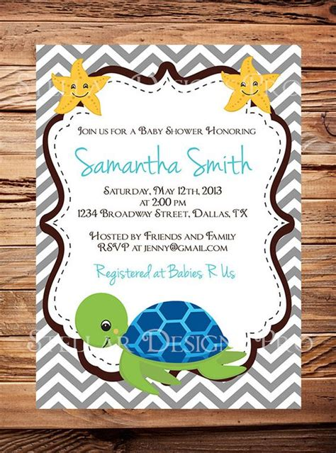 Turtle Baby Shower Invitations Boy by Turtle Baby Shower Invitation Baby Shower Turtle Pink