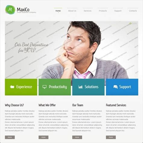 best templates for business websites 40 high quality business website templates