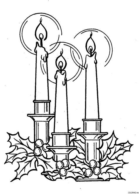coloring page christmas candle free coloring pages of christmas candles