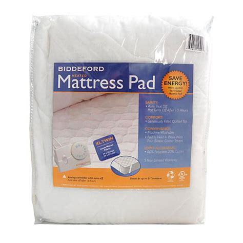 biddeford xl quilted electric heated mattress pad ebay