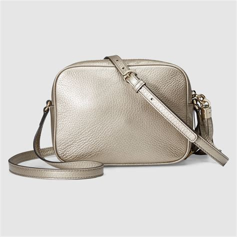 Gucci Soho Bag lyst gucci soho metallic leather disco bag in metallic