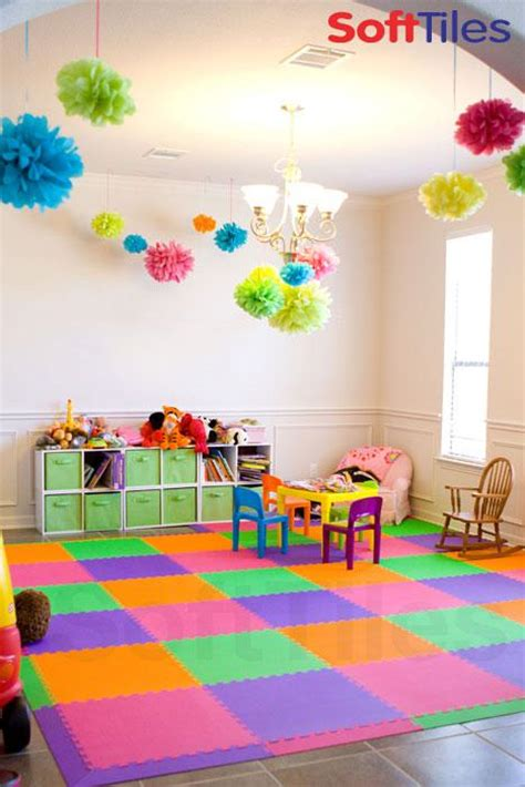 colorful playroom puzzle play mats softtiles