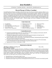 Physiotherapist Cover Letter by Sle Physiotherapy Resume Resume Sles