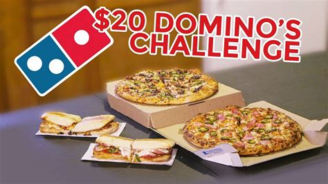 domino pizza vi domino s pizza 20 menu challenge youtube
