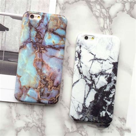 Iphone 6 6s Plus Marble Texture Gray Hardcase fashion animal marble phone for iphone 7 6 6s plus 5s se soft or smooth cover