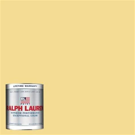 Home Depot Interior Paints by Ralph Lauren 1 Qt Armoire Yellow Hi Gloss Interior Paint