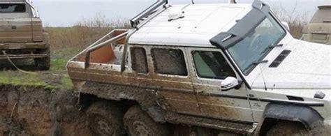 stuck köln mercedes amg g63 6x6 gets stuck in mud in azerbaijan