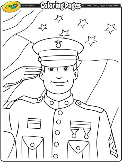 veteran coloring pages printable veterans day soldier coloring page crayola com
