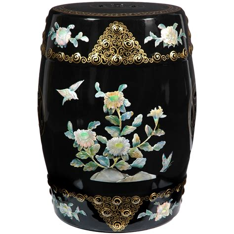 Furniture Garden Stools by Furniture Classic Garden Stool In Black