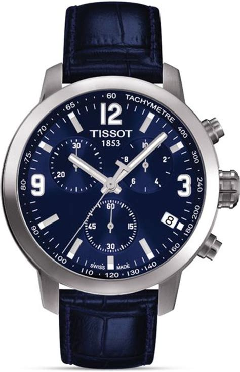 tissot prc 200 mens blue chronograph sport 41mm in