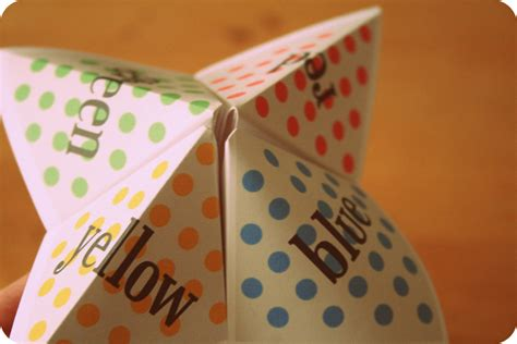 How To Make Toys With Paper - free paper fortune teller printable templates welcome to