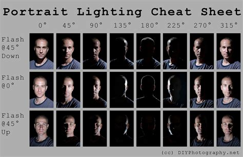 lighting tips portrait lighting cheat sheet card diy photography