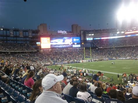 gillette stadium section 111 gillette stadium section 105 new england patriots