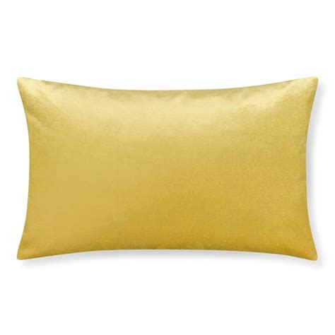 Williams Sonoma Pillows velvet lumbar pillow cover daffodil williams sonoma