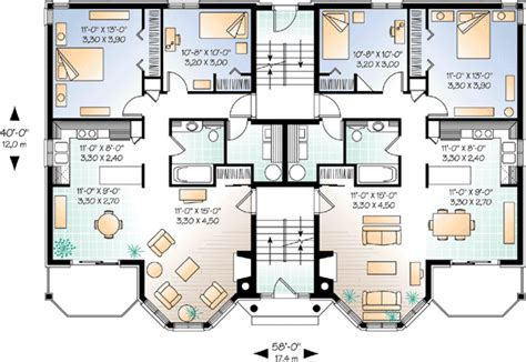 dual family house plans world class views 21425dr canadian metric cad