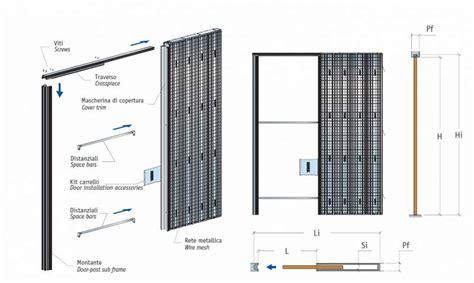 telai per porte scorrevoli prezzi controtelai per porte scorrevoli interno muro a sedriano