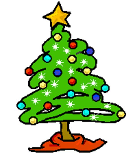 cartoon christmas tree december moving clipart pencil and in color moving clipart