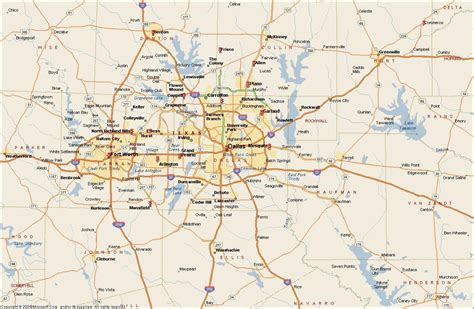 dallas on map of usa dfw metroplex map map of dfw metroplex area usa