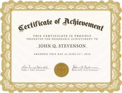 Free Vector Certificate Templates by Certificate Templates Without Borders Blank Certificates
