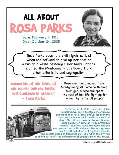 rosa parks biography for middle school rosa parks fact sheet black america pinterest rosa